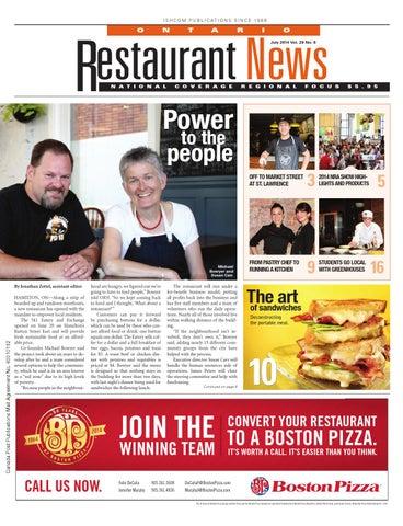 Ontario Restaurant News   July 2014 By Ishcom Publications   Issuu