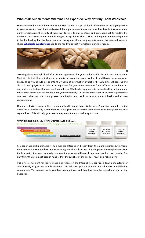 Wholesale supplements uk by ahmadakram - issuu