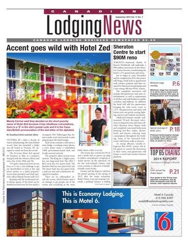 0ba66f9efffa2 Canadian Lodging News - September 2014 by Ishcom Publications - issuu