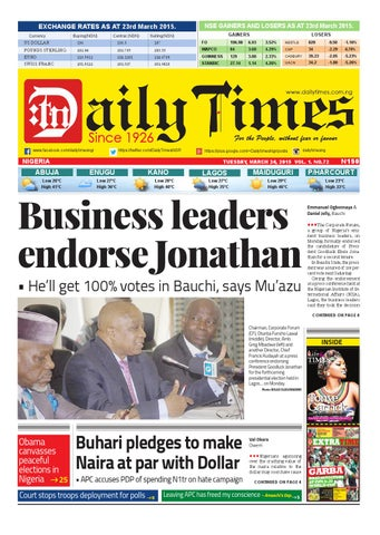 daily times of nigeria