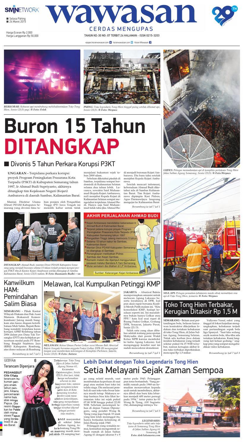 WAWASAN 24 Maret 2015 by KORAN PAGI WAWASAN - issuu 52eeba323c