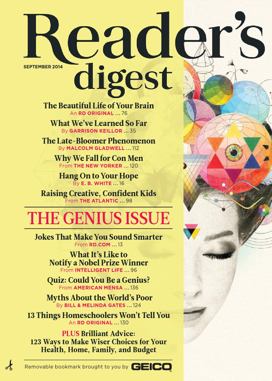 25df9c028f6d6 Reader s Digest September 2014 by Nova May Solite - issuu