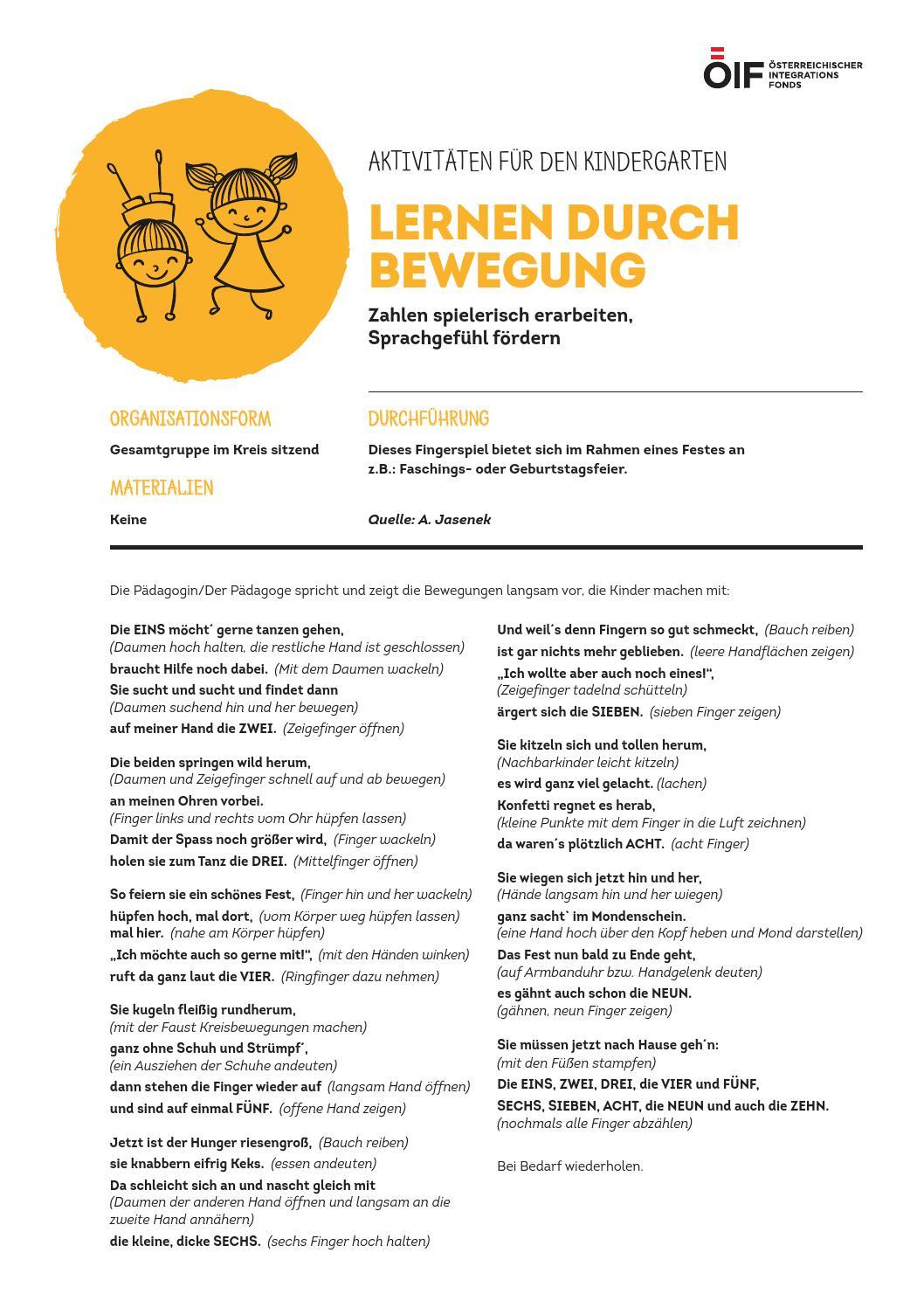 Lernen Durch Bewegung 2 By Osterreichischer Integrationsfonds Issuu
