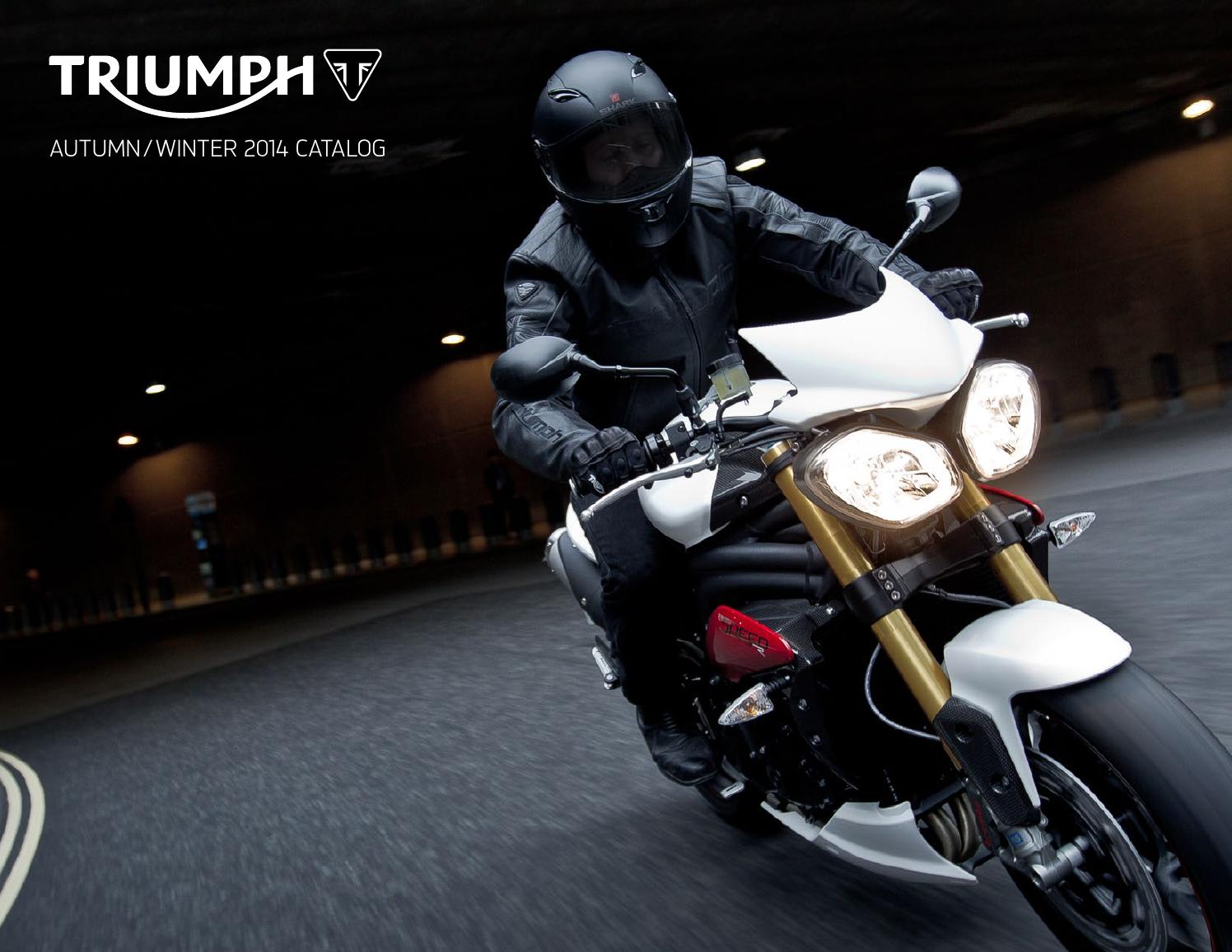 4bde28a9859 Triumph Motorcycle Apparel Catalog Fall Winter 2014 by Mototainment ...