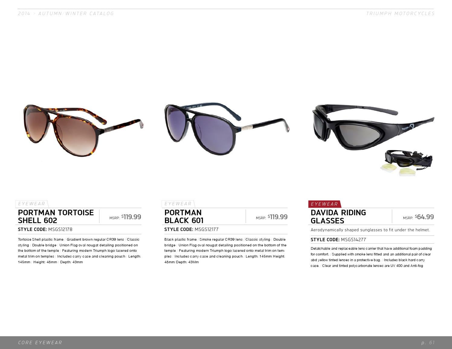 Triumph Motorcycle Apparel Catalog Fall/Winter 2014 by