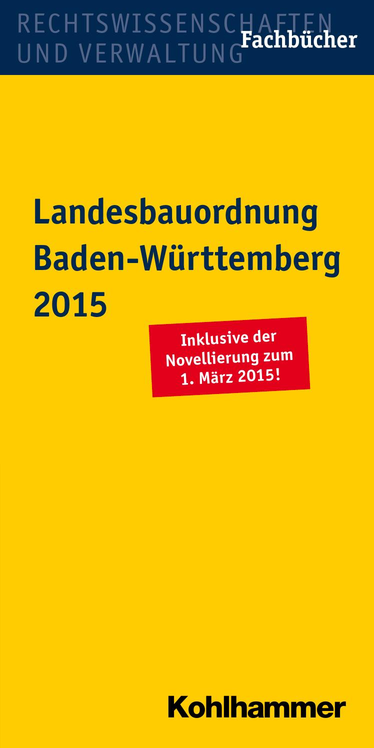 landesbauordnung baden w rttemberg 2015 by kohlhammer verlag issuu. Black Bedroom Furniture Sets. Home Design Ideas