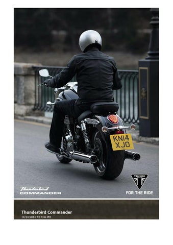 2015 Triumph Thunderbird Commander Brochure By Mototainment Ducati