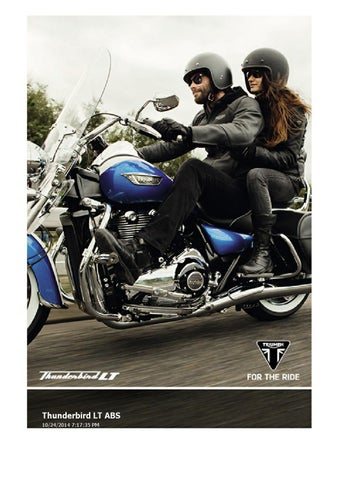 Owners Manual Triumph Thunderbird Commander Abs By Mototainment