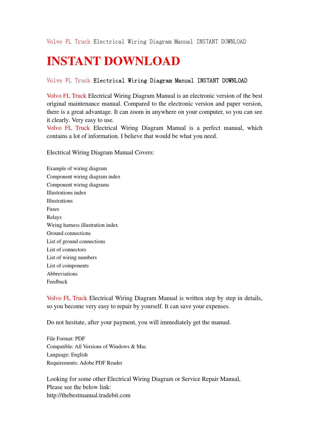 Volvo Fl Truck Electrical Wiring Diagram Manual Instant Download By Abbreviations Jjfhsjnn Issuu