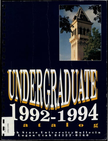 1992 94 usu catalog by usu digital commons issuu page 1 fandeluxe Choice Image