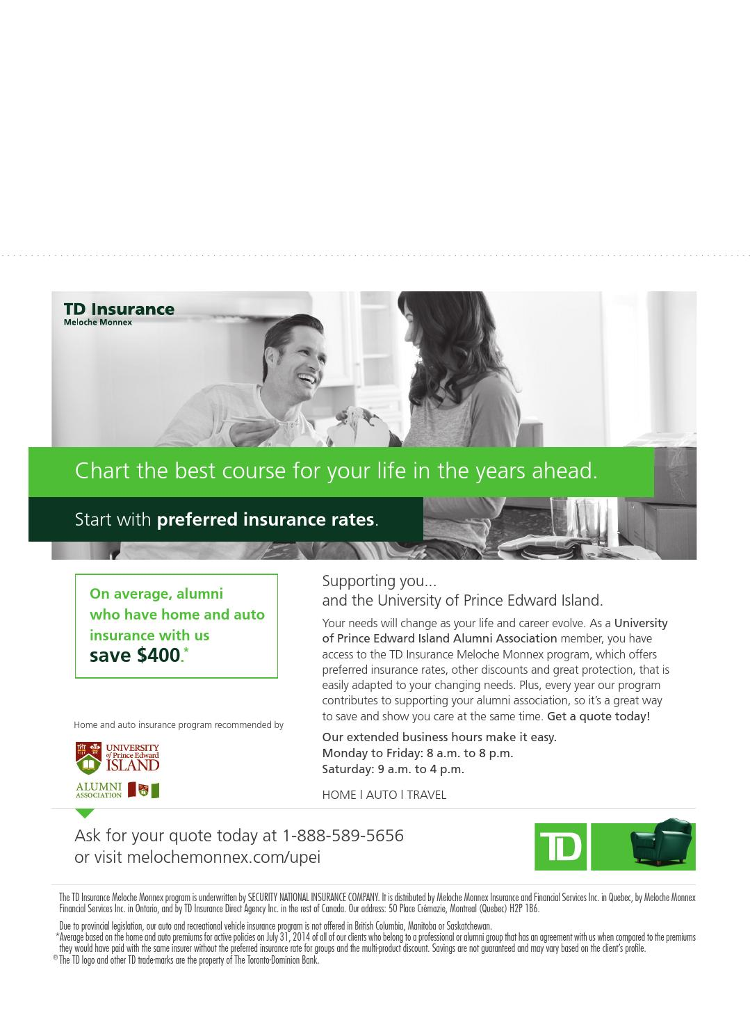Td Bank Life Insurance Quote Td Insurance Quotes  44Billionlater