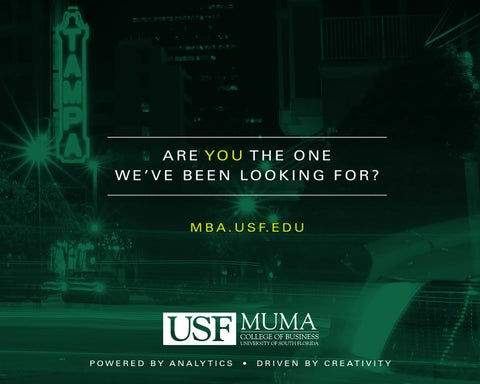 Usf mba requirements