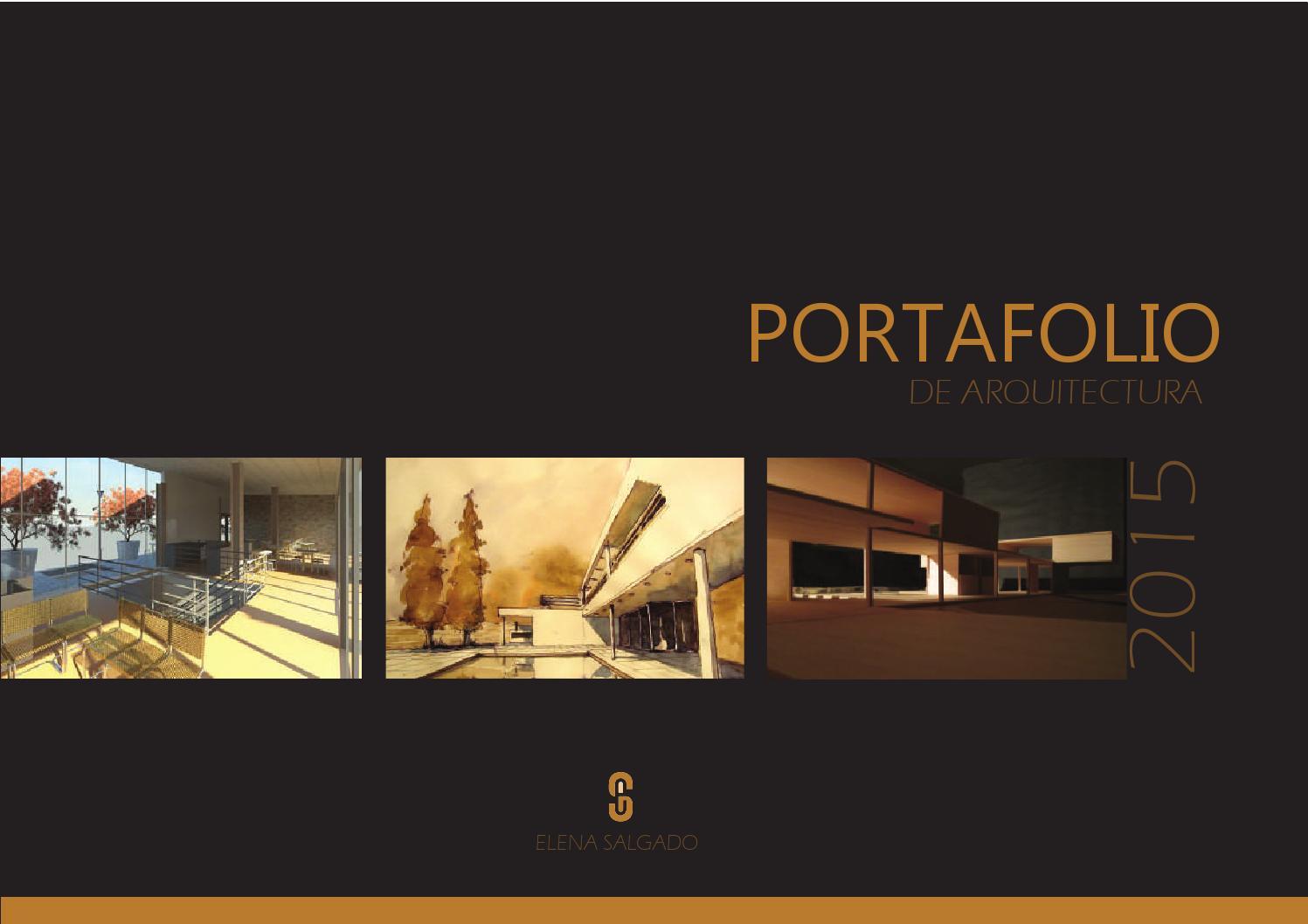 Portafolio de arquitectura by elena salgado issuu for Portafolio arquitectura