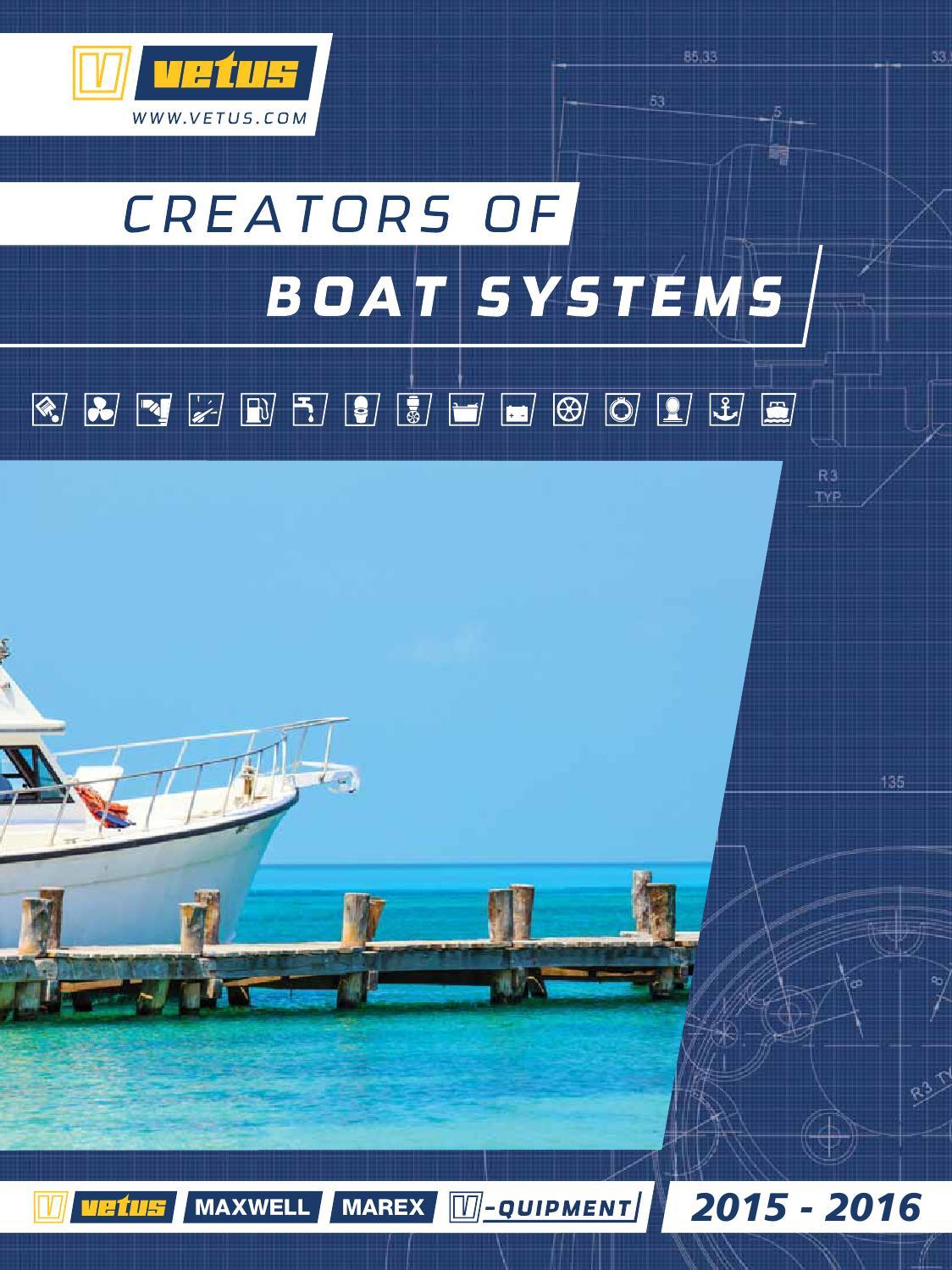 Vetus 1//2 Inch Stainless Steel Straight Marine Boat Thru Hull Connector