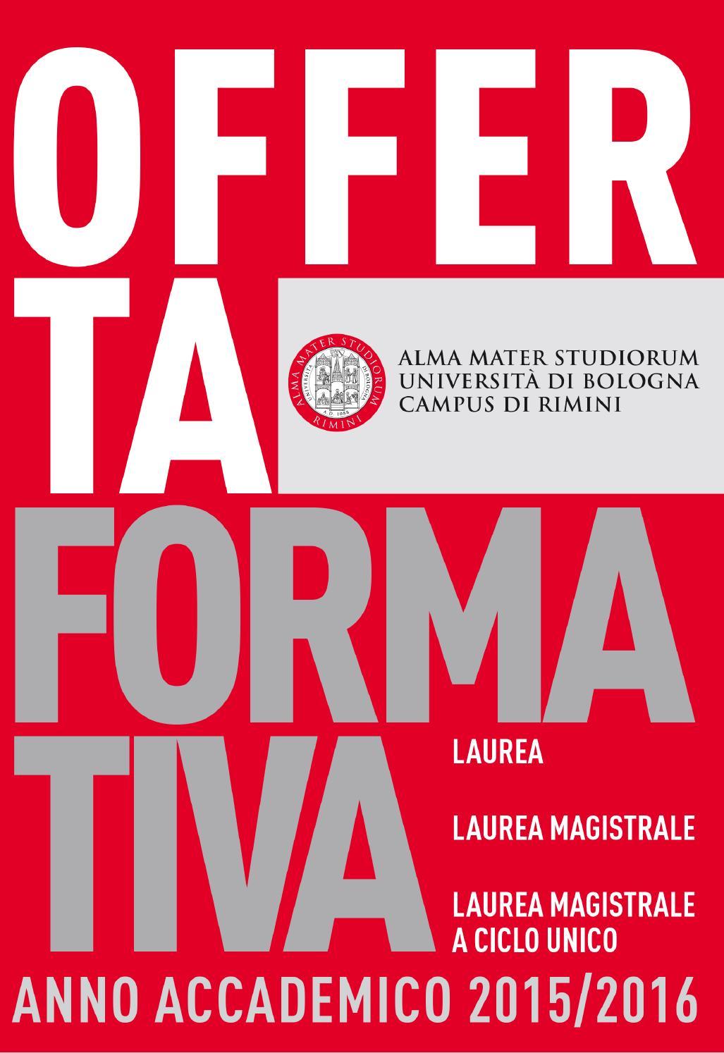 Offerta formativa A.A. 2015/2016 | Campus di Rimini by ...