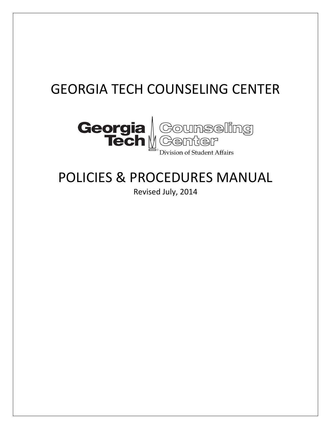 Georgia tech counseling center policies and procedures manual rev georgia tech counseling center policies and procedures manual rev 72014 by ruperto perez issuu xflitez Image collections