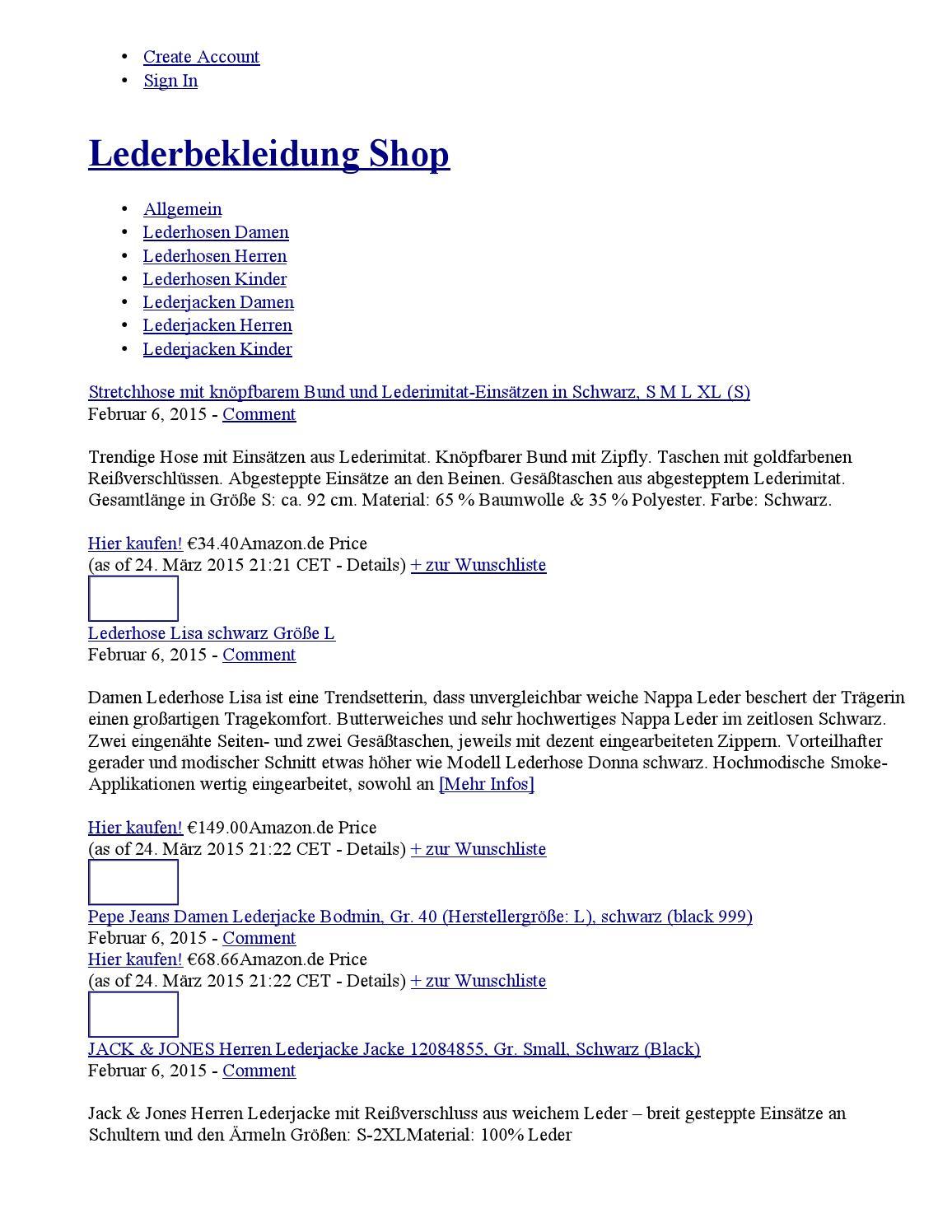 Lederhose für Jungen by Shopping Tipps issuu