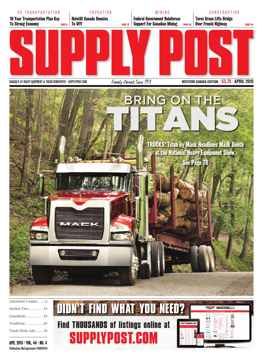 Supply Post West Apr 2015 by Supply Post Newspaper - issuu