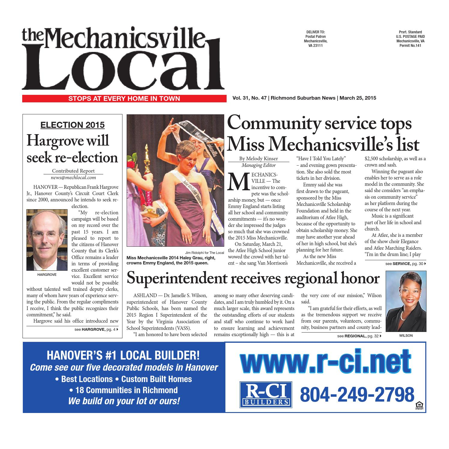 03/25/2015 by The Mechanicsville Local - issuu