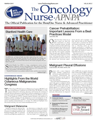 TON_March2015_Vol8_No2 by The Oncology Nurse - issuu