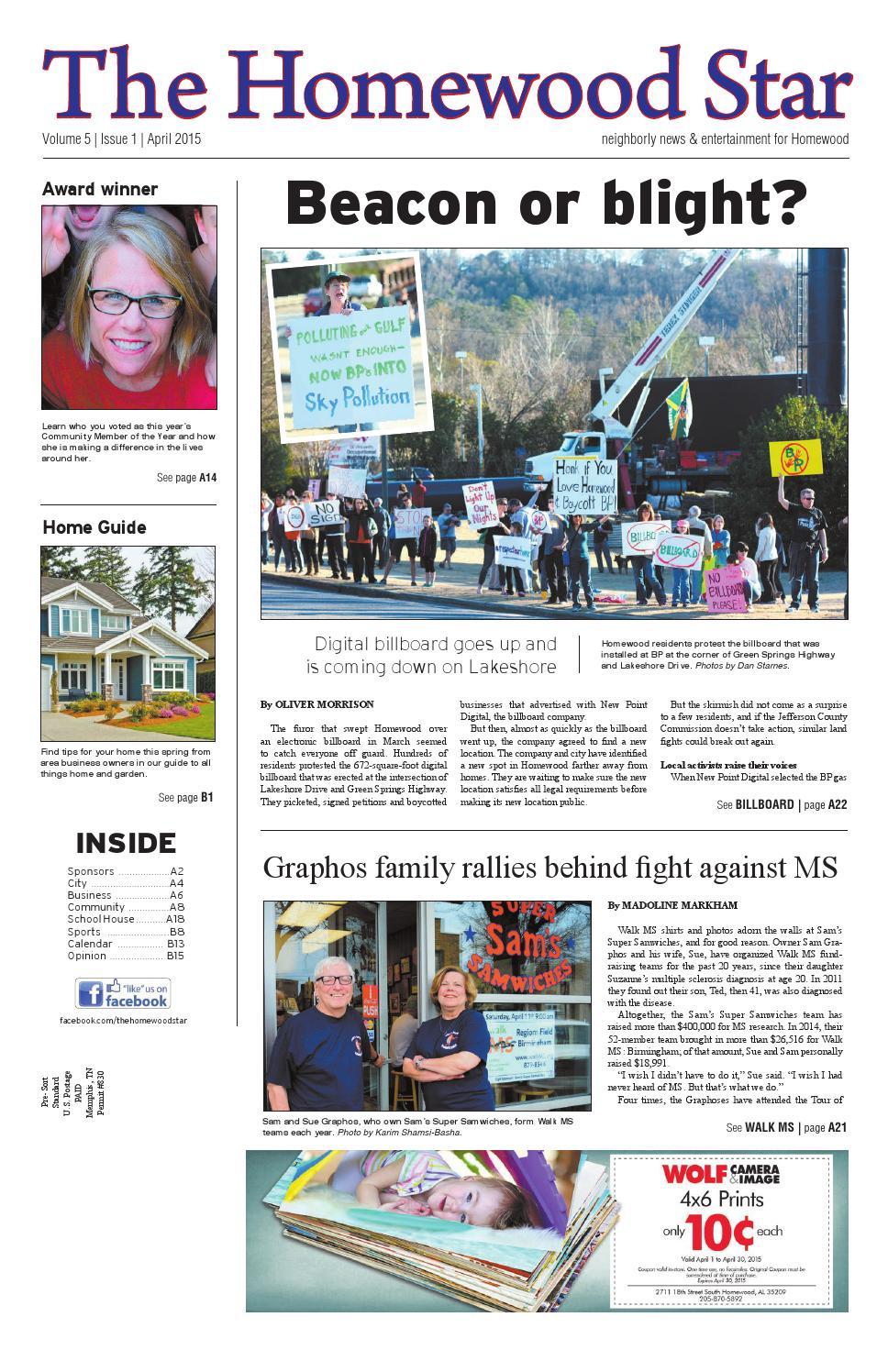 Homewood Star April 2015 by Starnes Media - issuu