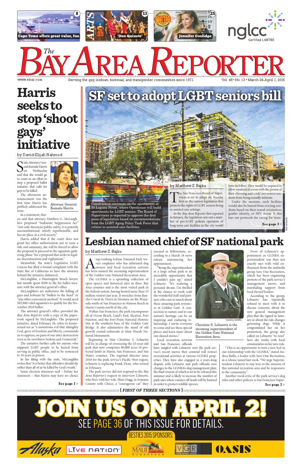 March 26, 2015 Edition of the Bay Area Reporter by Bay Area Reporter - issuu