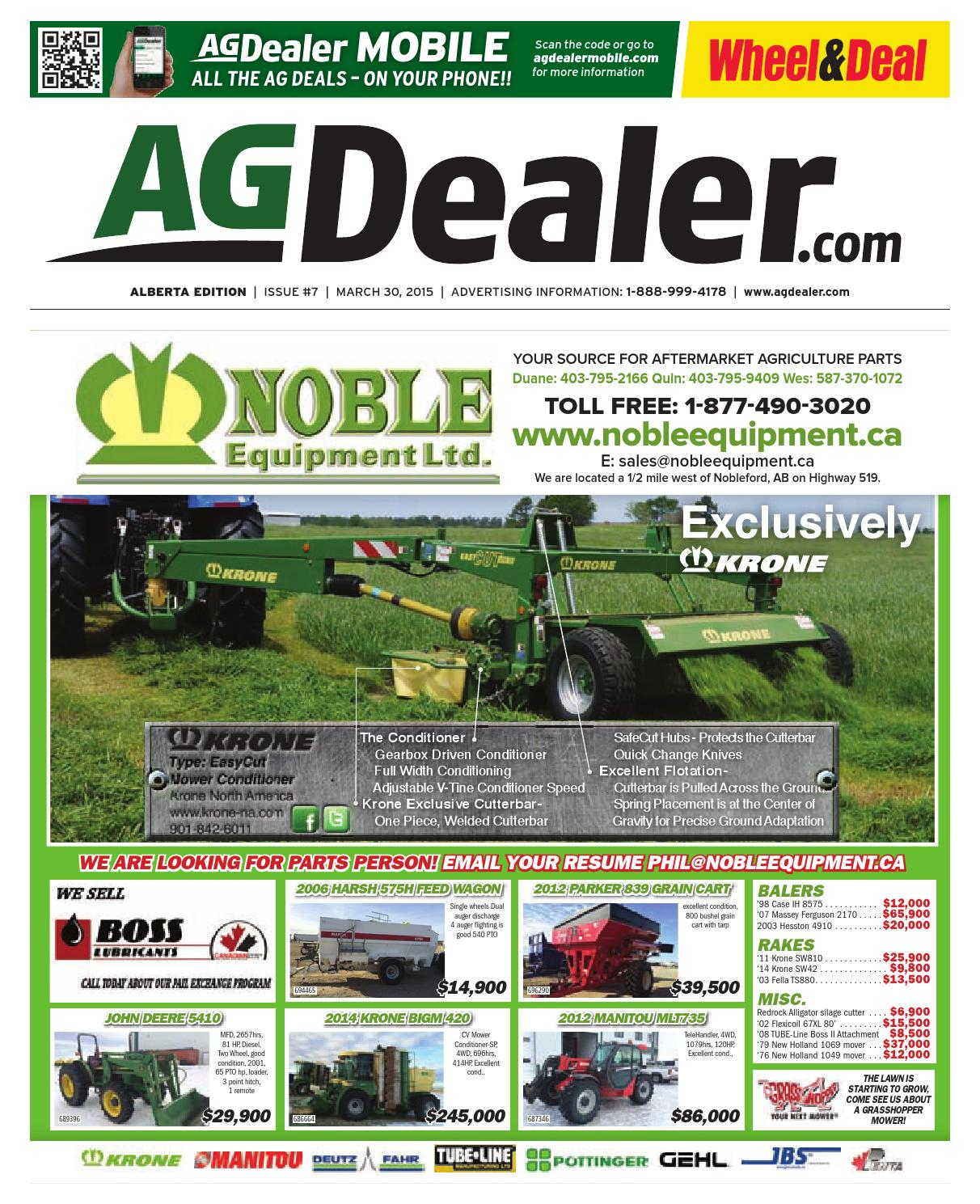 Wheel Amp Deal Alberta March 30 2015 By Farm Business John Deere F935 Wiring Diagram Communications Issuu