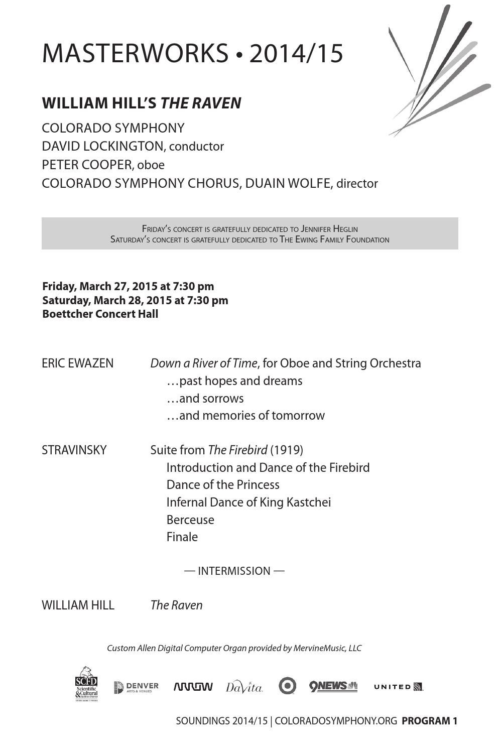 The Raven | Program Notes by Colorado Symphony - issuu