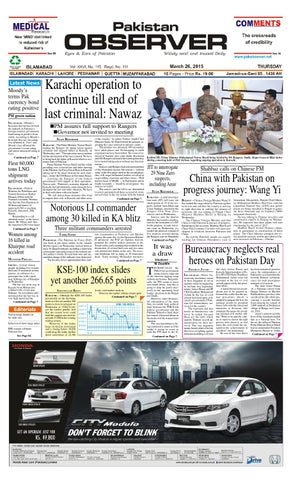 Ep26mar2015 by Pakistan Observer - issuu
