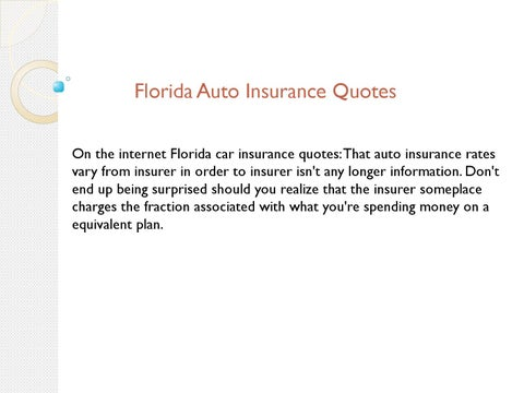Florida Auto Insurance Quotes By Socialfinance Issuu