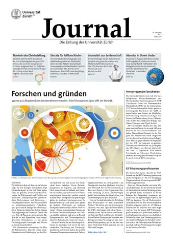 UZH Journal 2/15 by University of Zurich - issuu