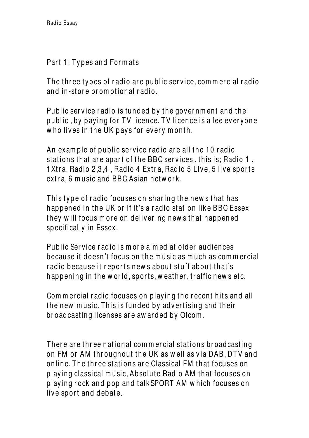 Radio essay docx by Ashley Bukaka - issuu
