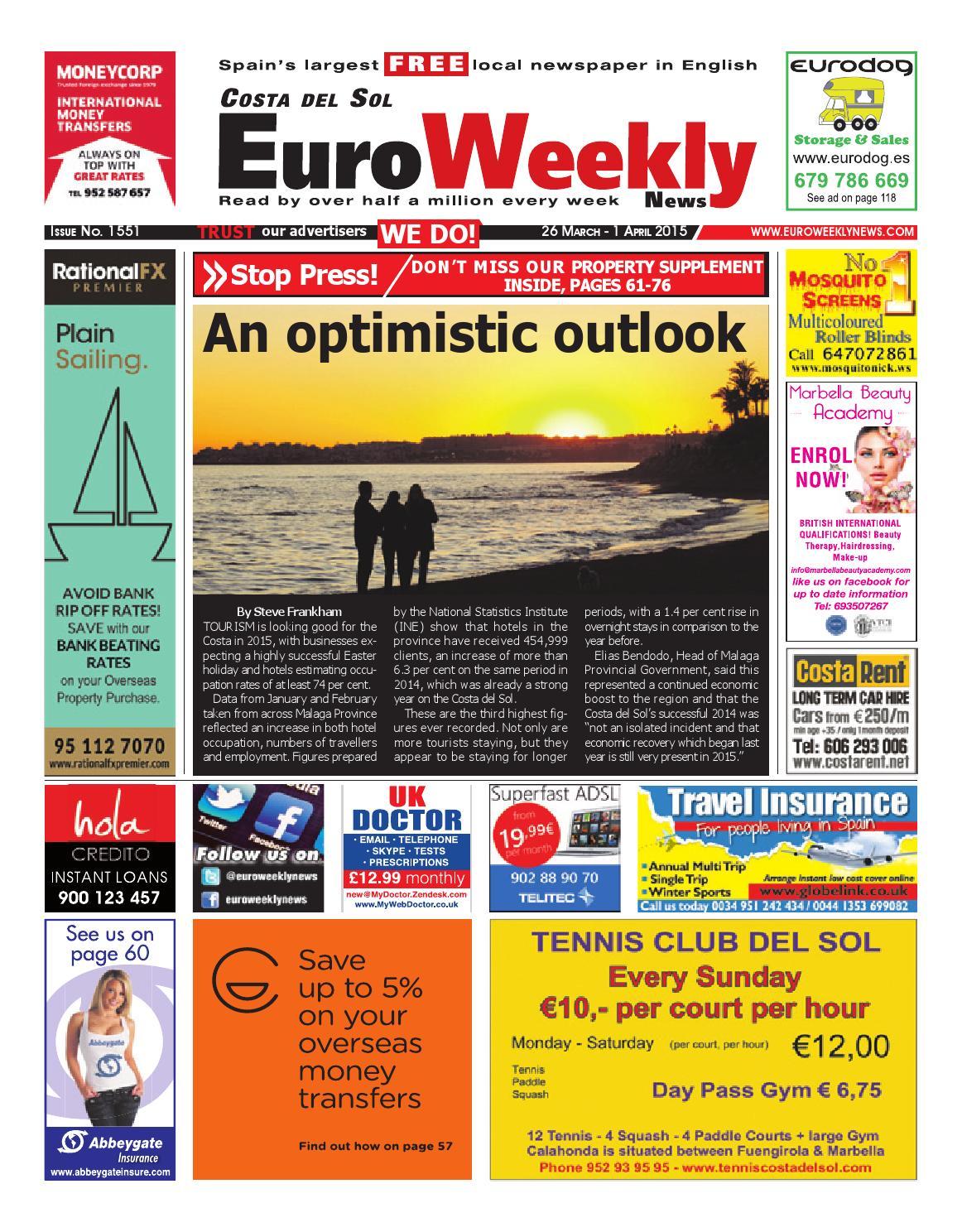 Euro weekly news costa del sol 26 march 1 april 2015 issue 1551 euro weekly news costa del sol 26 march 1 april 2015 issue 1551 by euro weekly news media sa issuu fandeluxe Gallery