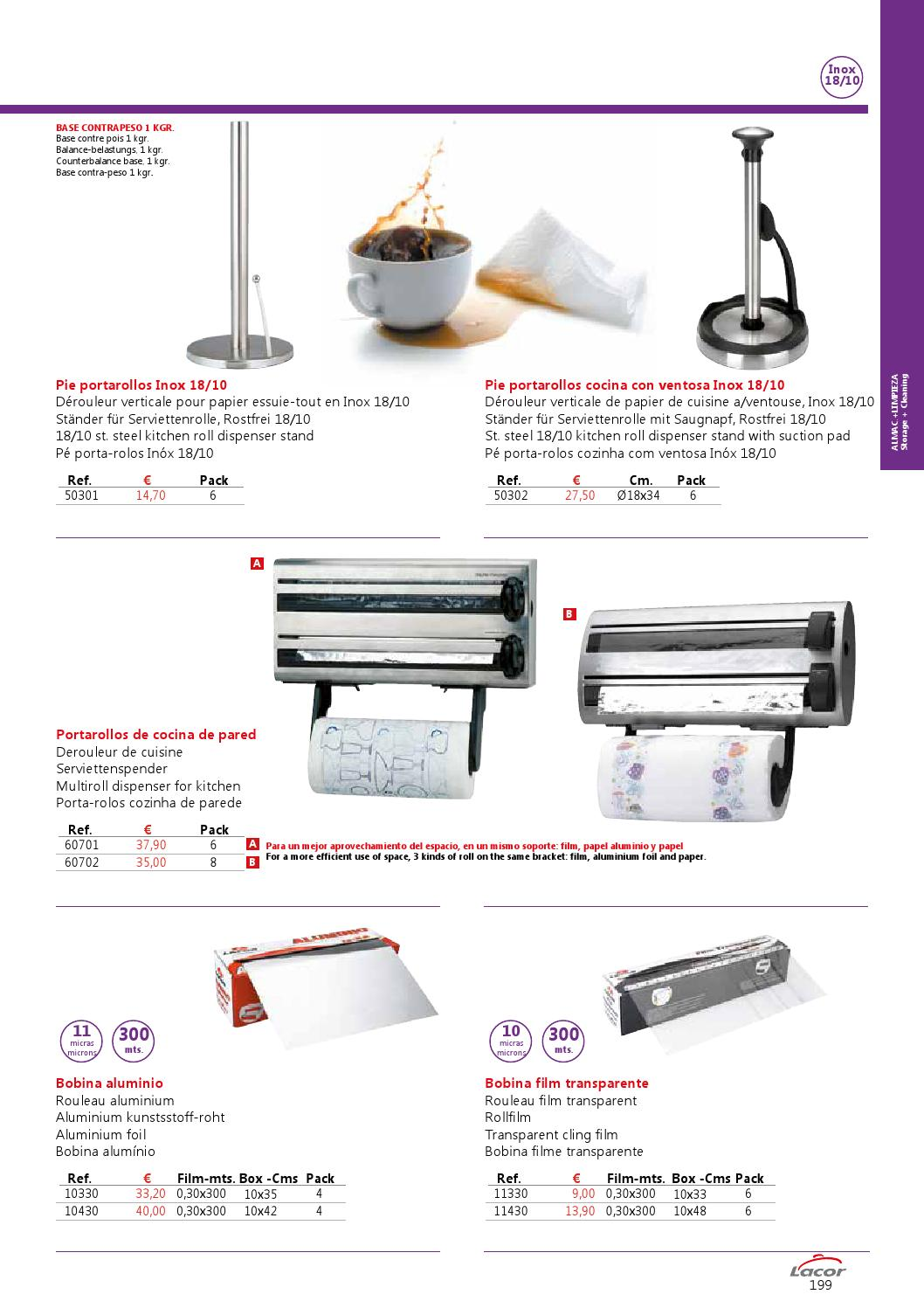 Lacor Pie Portarollos Inox 50301