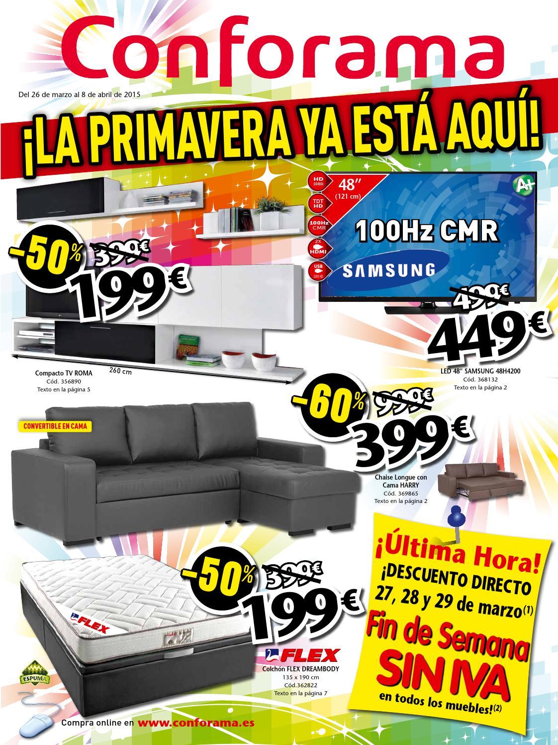 Conforama Catalogo 26marzo 8abril2015 By Catalogopromociones Com  ~ Lamparas De Pie Para Salon Conforama