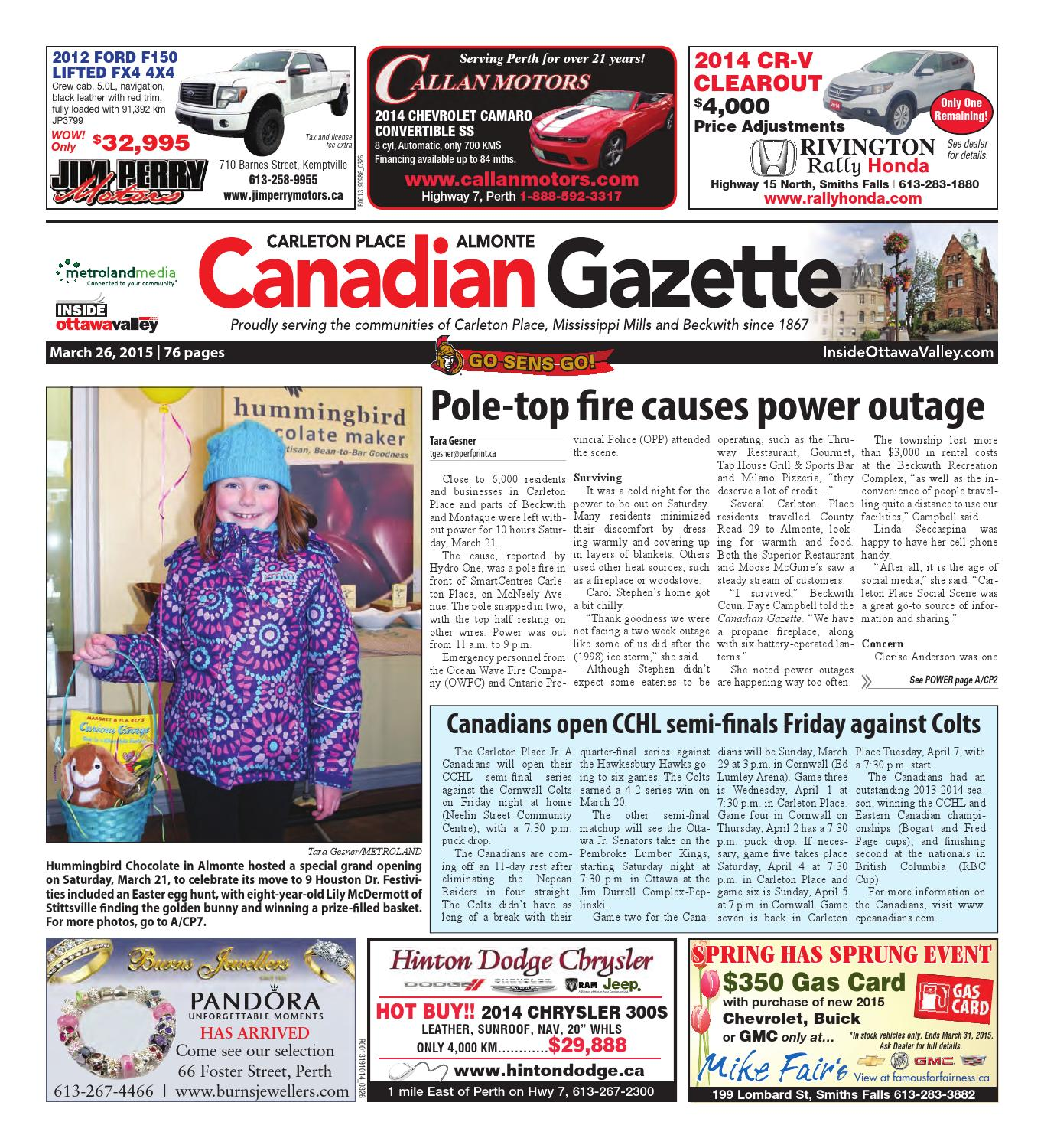 4b79e1dcf Almontecarletonplace032615 by Metroland East - Almonte Carleton Place  Canadian Gazette - issuu