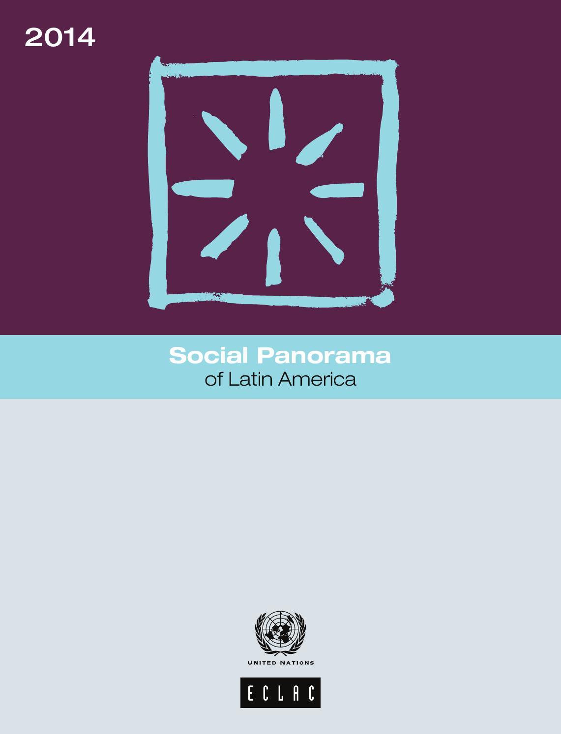 Social Panorama Of Latin America 2014 By Publicaciones De La