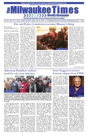 Milwaukee Times 3 26 15 Issue By Milwaukee Times News Issuu