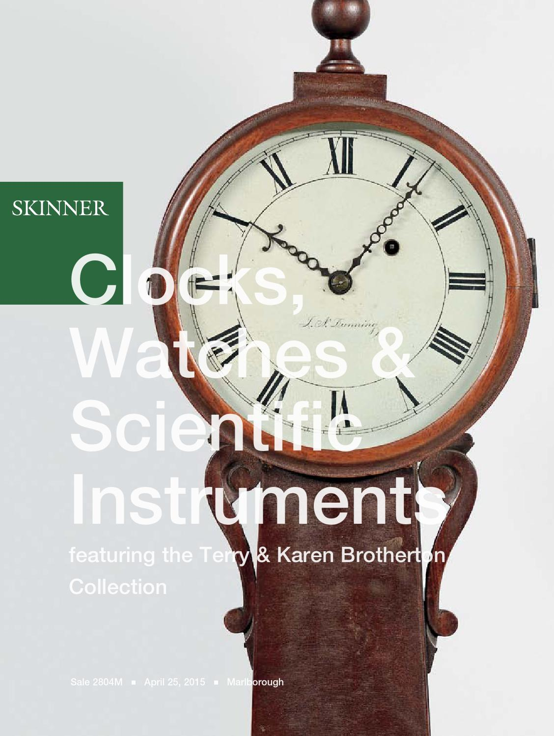 Clocks Watches u0026 Scientific Instruments Skinner
