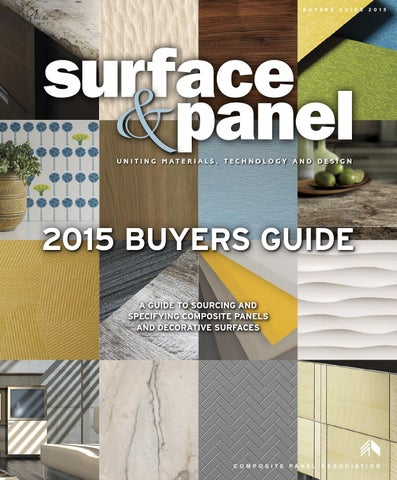 Surface Panel Buyers Guide 2015 By Bedford Falls Communications