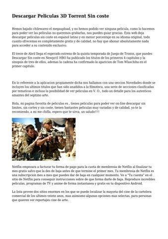descargar peliculas 3d utorrent en español