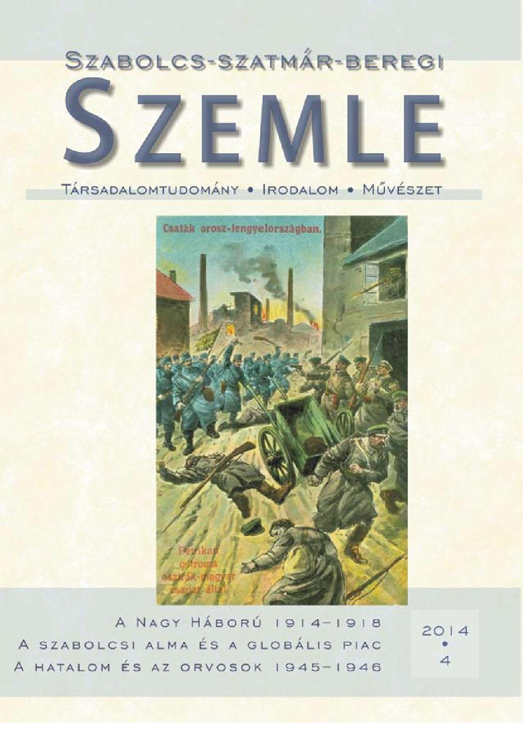 Szabolcs-szatmár-beregi Szemle 2014. 4. szám by Szemle - issuu e5edd00939