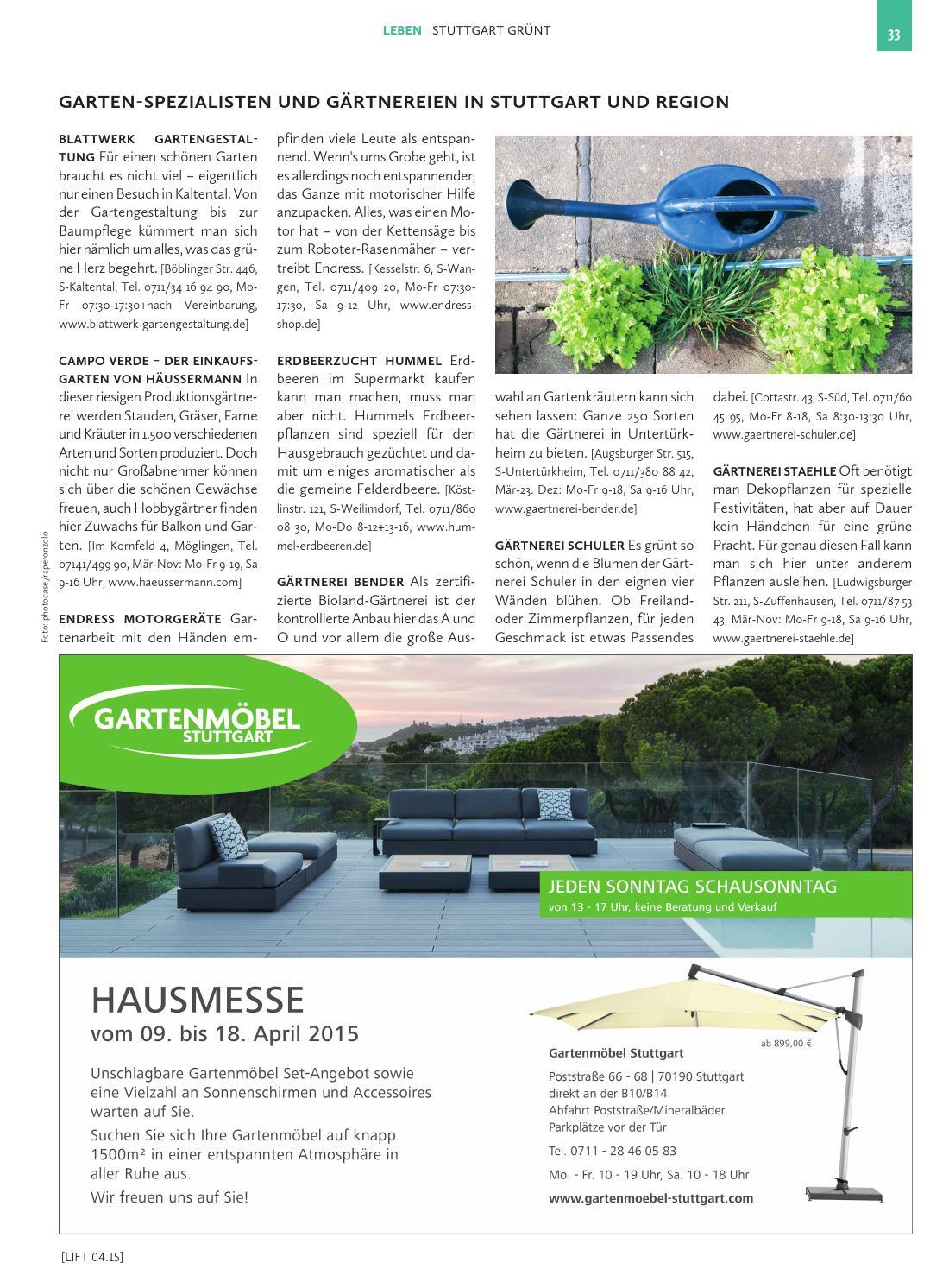 Wunderbar Stuttgarter Gartenmöbel Bilder - Hauptinnenideen - kakados.com