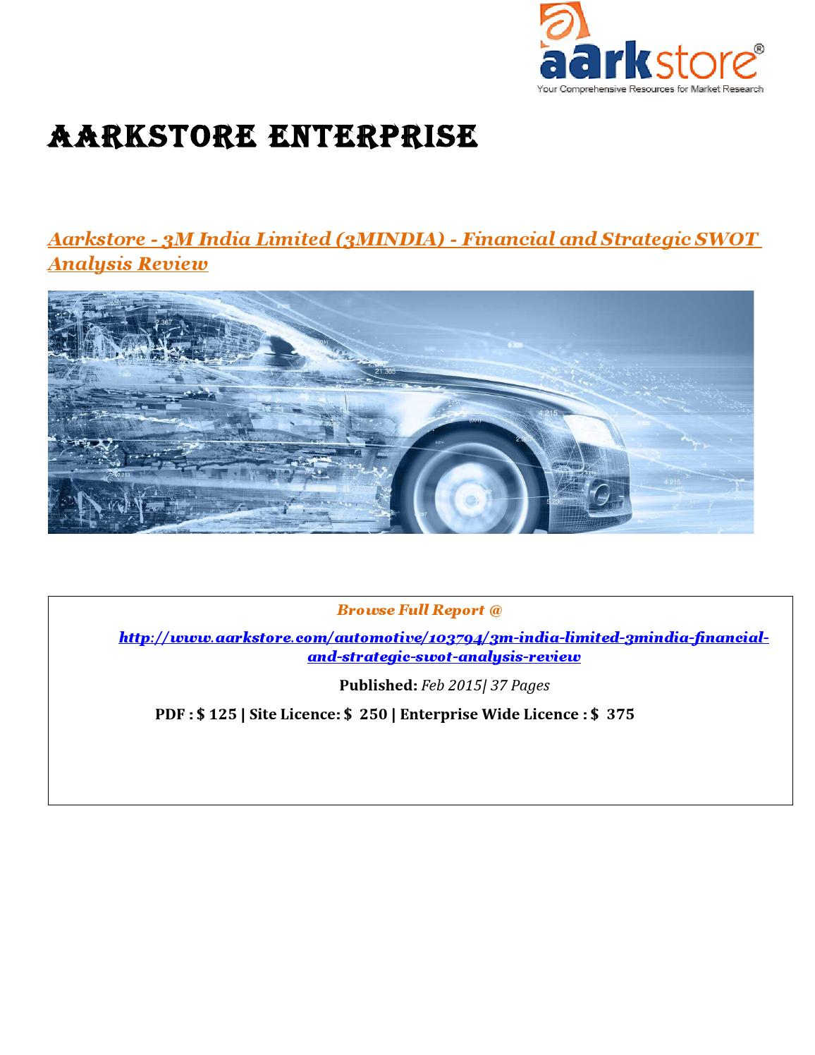 Aarkstore 3m india limited (3mindia) financial and strategic