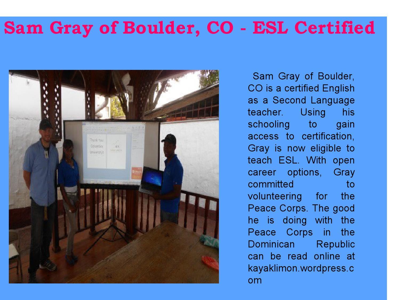Sam gray of boulder co esl certified by sam gray boulder co issuu 1betcityfo Choice Image
