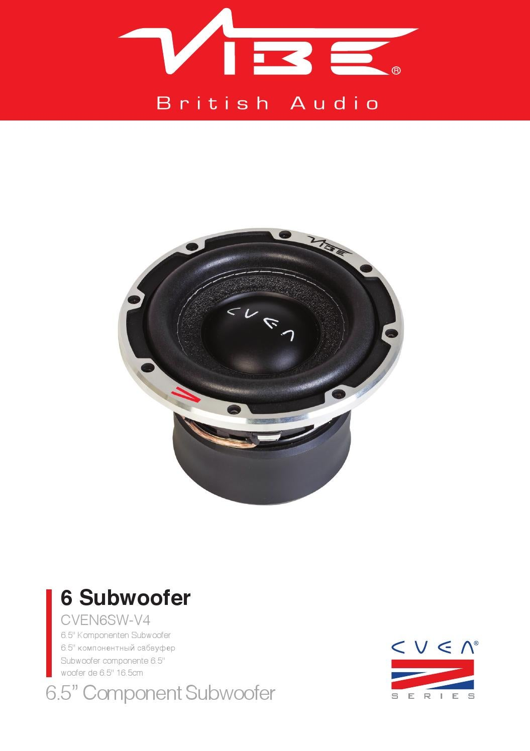 Vibe Subwoofer Wiring Diagram 29 Images 6 Page 1 Cven6sw V4 Manual By Audio Issuu At Cita