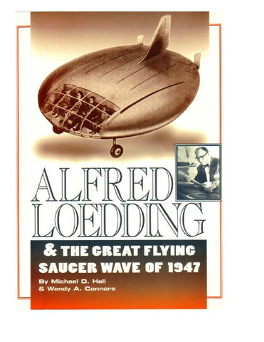Alfred Loedding The Great Saucer Wave Of 1947 By Lt Commander