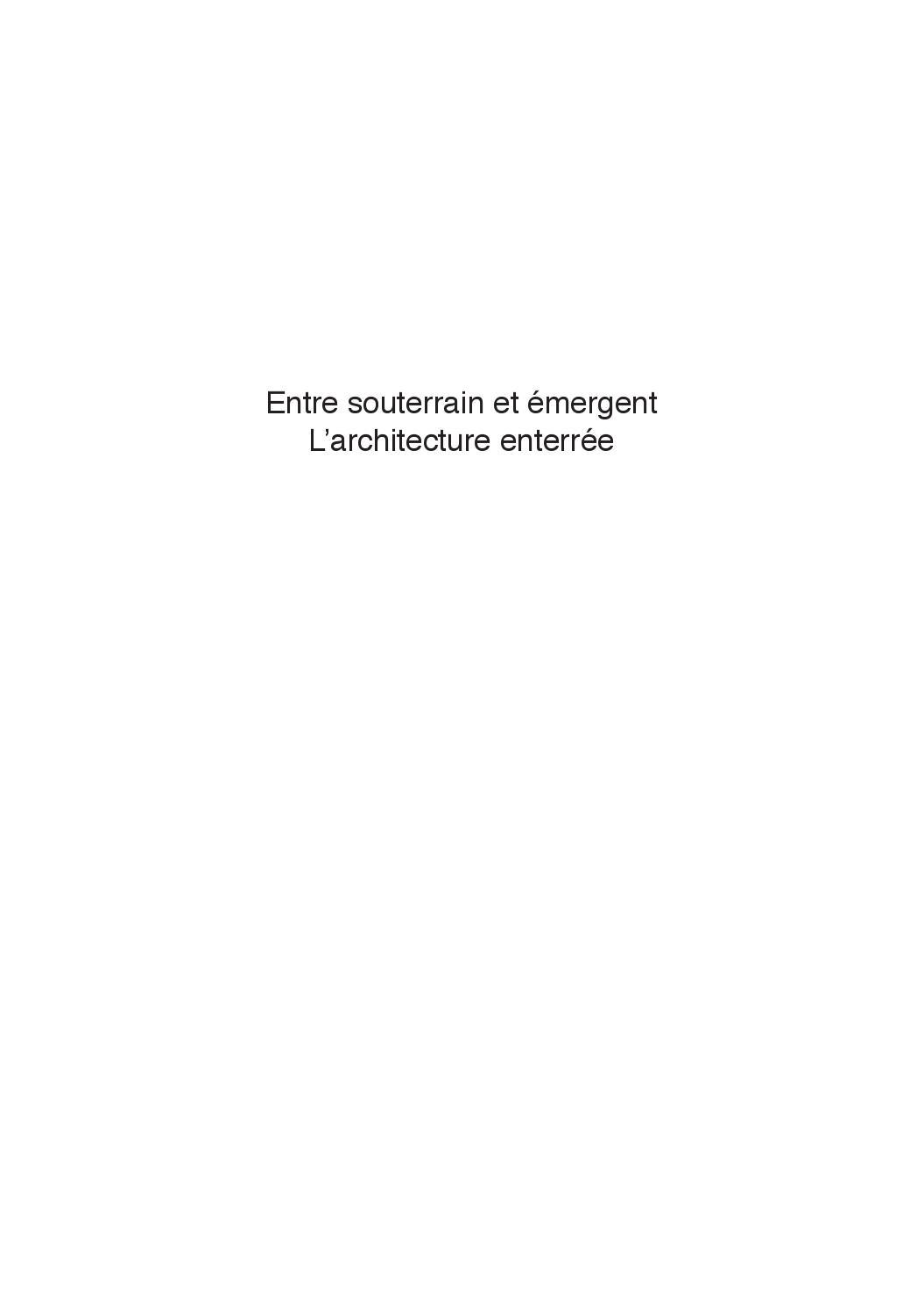 Ventilation Sous Sol Semi Enterré mémoire master 2carole juet - issuu