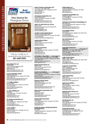 Page 80  sc 1 st  Issuu & Featured in Houston Remodeling Guide by (GHBA)Greater Houston ...