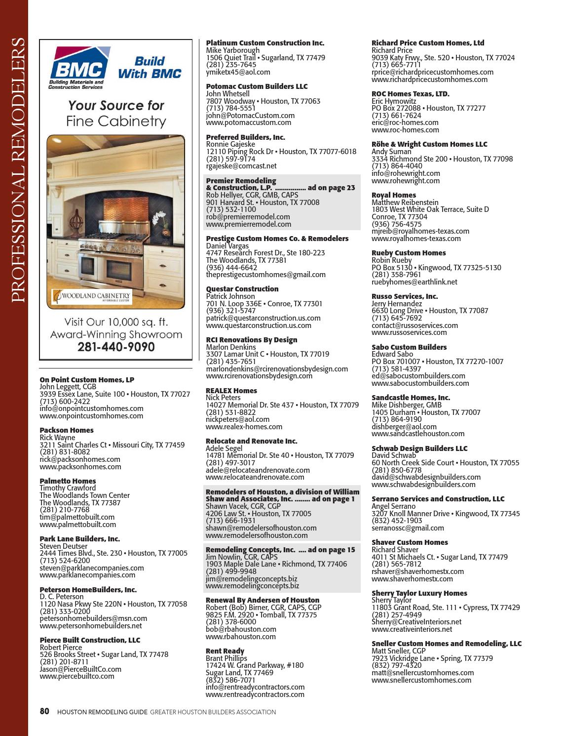 Featured in Houston Remodeling Guide by (GHBA)Greater Houston